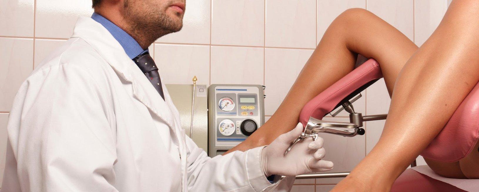 Смотреть как женщина пришла на прием к гинекологу 21 фотография